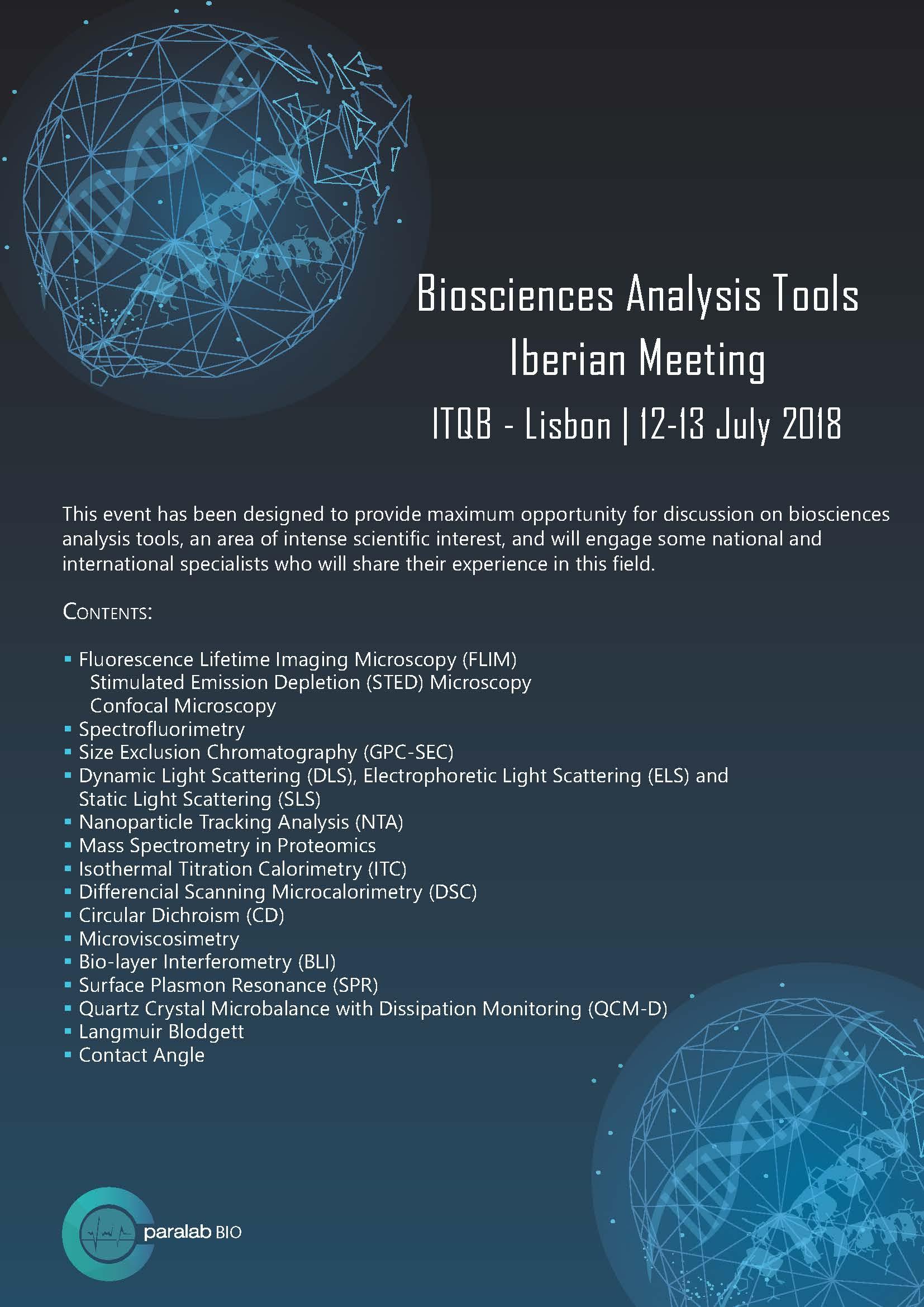 Meeting Biosciences Analysis Tools Itqb