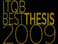 Best PhD Thesis at ITQB in 2009