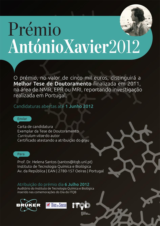 Cartaz Premio Antonio Xavier 2012